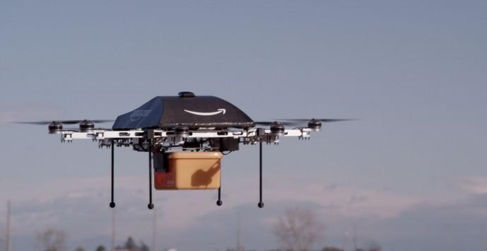 아마존에서 연구 중인 배송용 무인비행체 '프라임에어'. - Amazon PrimeAir 제공